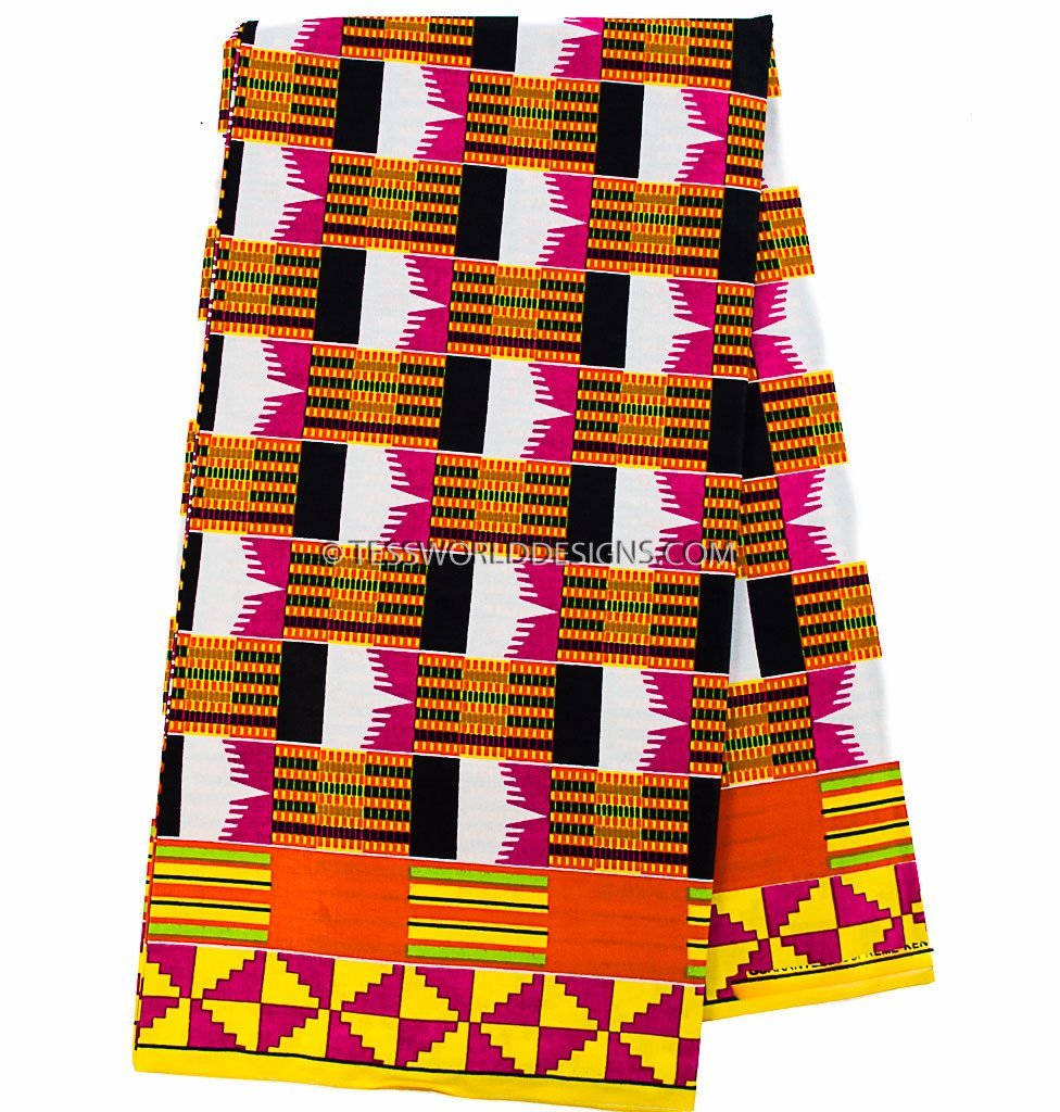KF258 - Kente Fabric, Tutu 6 yards - Tess World Designs