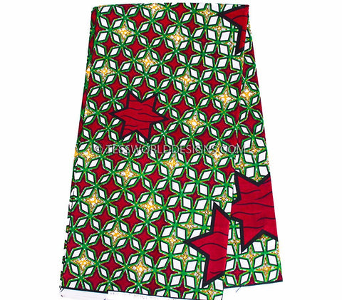 WP891 - African Print Fabric , 6 yards - Tess World Designs