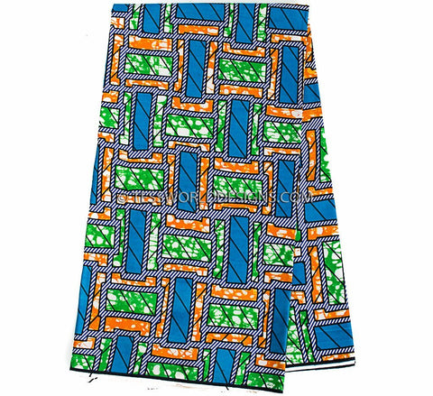 WP888 - African Print Fabric , 6 yards