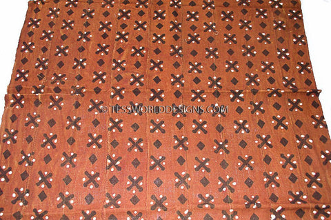 MC153 - Red Mudcloth Fabric , from Mali - Tess World Designs