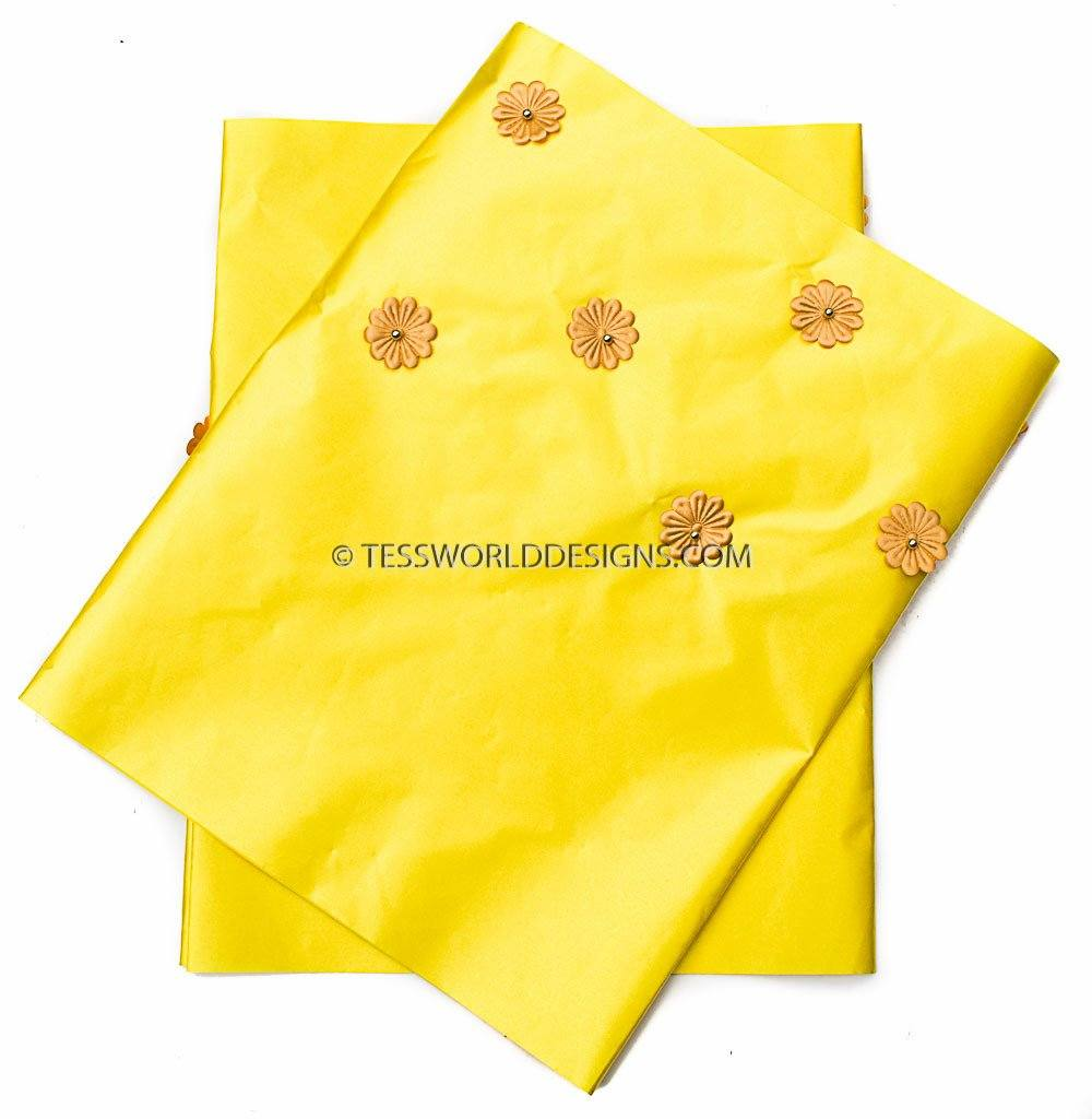 GE16 -Yellow Gele head wraps set - Tess World Designs, LLC