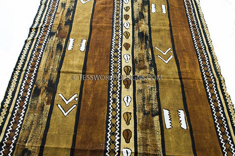 MC146 -  Bogolan Mud cloth Fabric , - Tess World Designs