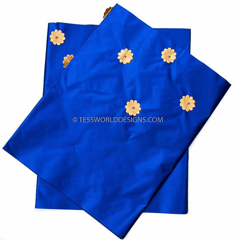 GE08 -Royal blue Gele head wraps set