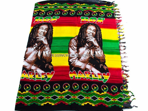 KY06 - Bob Marley Kikoy Sarong fabric - Tess World Designs