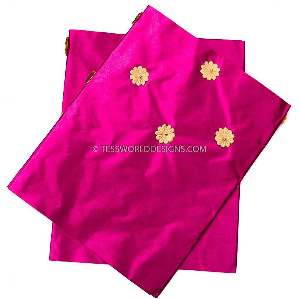 GE02 -Fuchsia Gele head wraps set - Tess World Designs, LLC