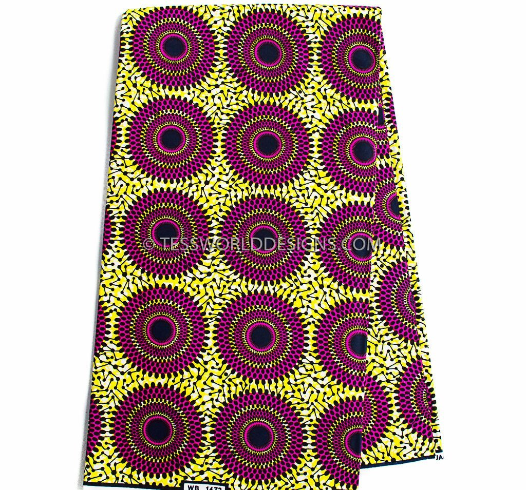 SW54 - Africa Fabrics fuchsia 6 yards - Tess World Designs