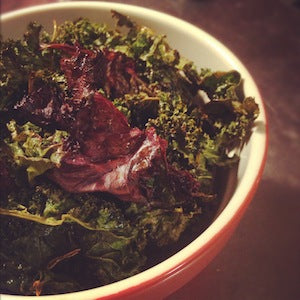 Nacho cheese kale chips recipe