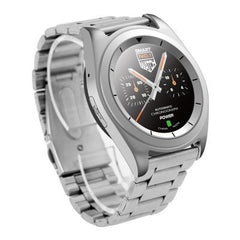 DT Bluetooth Steel Band Smart Watch With Heart Rate Monitor