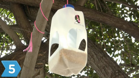 Click-A-Brick presents: How to make a bird feeder out of an empty milk carton