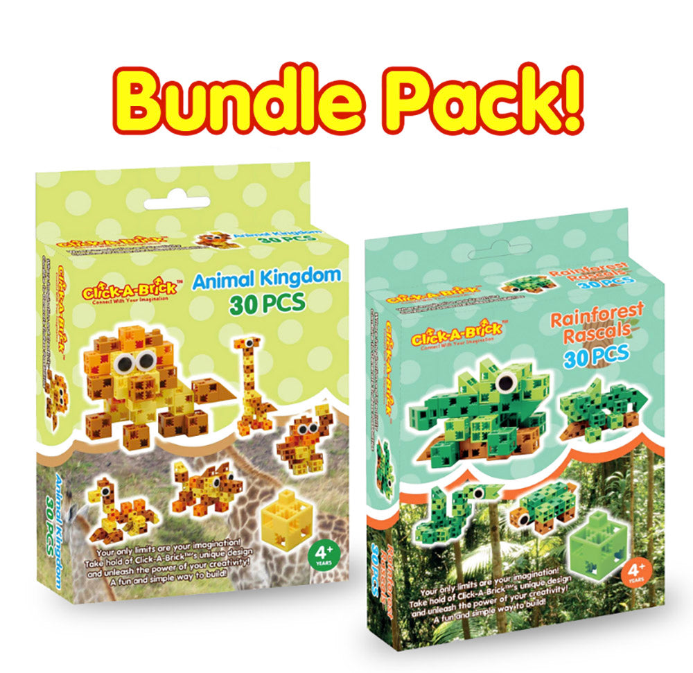 12 - Bundle Pack - Animal Kingdom & Rainforest Rascals - 30 piece sets