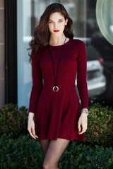 Holiday Burgundy Sexy Dress