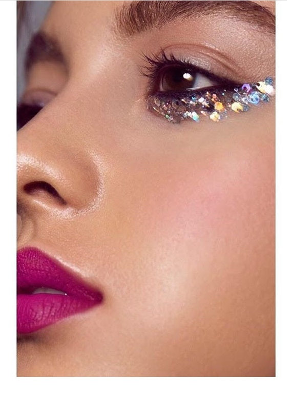fancy eye glitter makeup