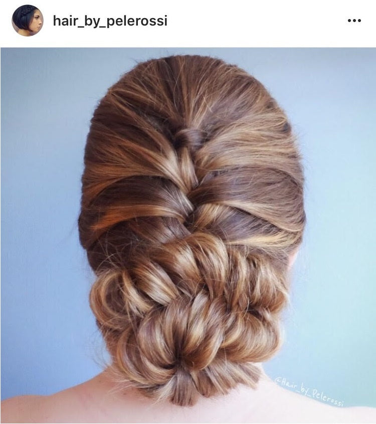 inverted fishtail elegant braid