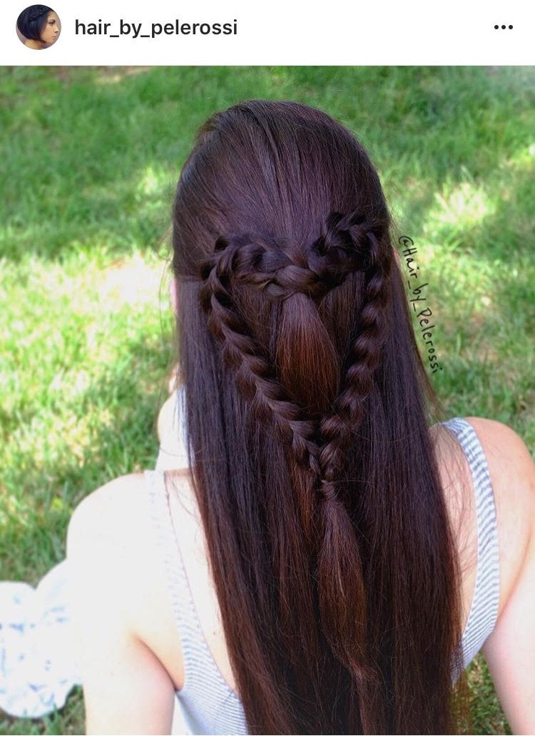 braided heart design hairstyle