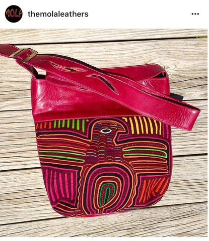 Mola Leather red purse