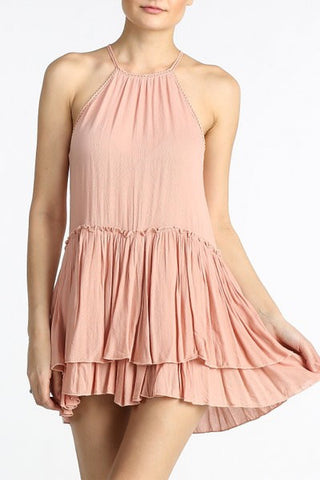 short sun dress with tier ruffles posh box clothing
