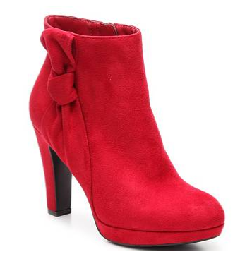 red bootie street style
