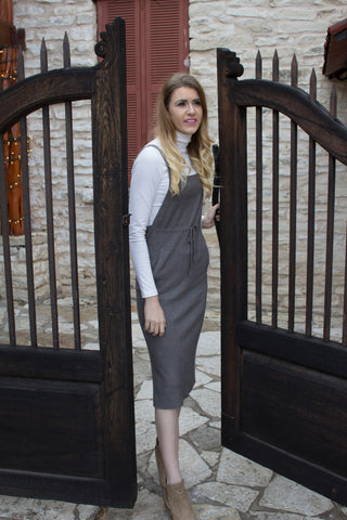 Grey Overall Cashmere Dress