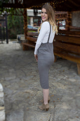 Grey Overall Cashmere Dress-345