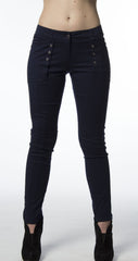 Navy Front Pocket Grommet Pant-184