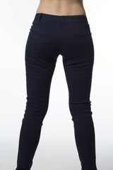 Navy Front Pocket Grommet Pant