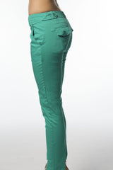 grabber green cotton skinny pant