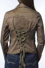 jacket with adjustable ties