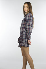 long sleeve flannel cotton dress