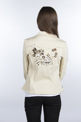 Embroidered Floral Design Cotton Jacket