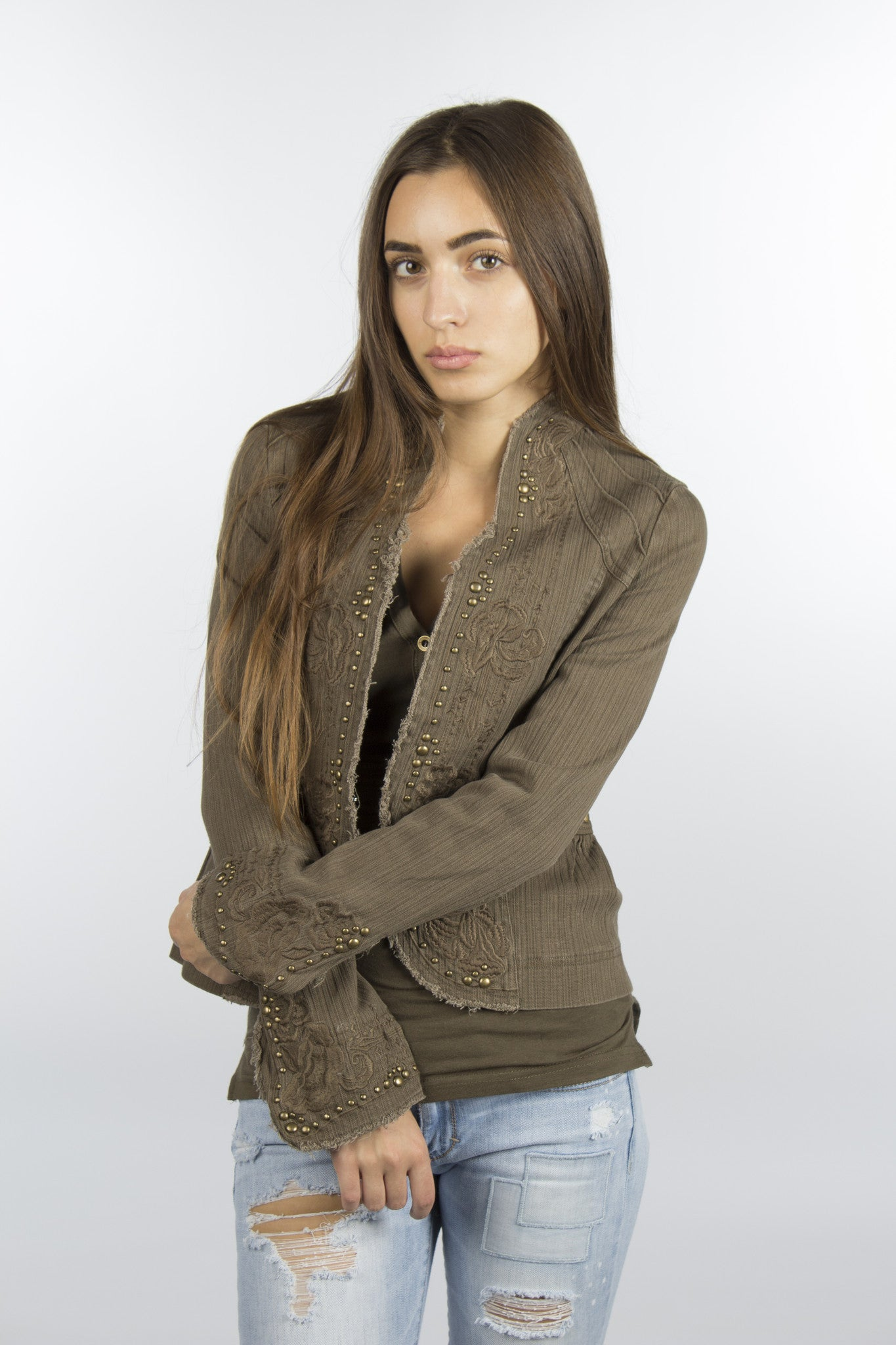 Cotton olive jacket