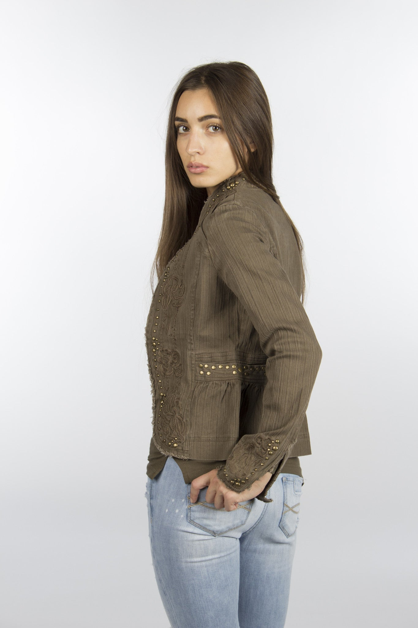 Olive cotton jacket