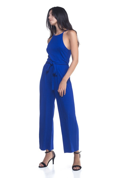 Casual Jumpsuit With Belt-204