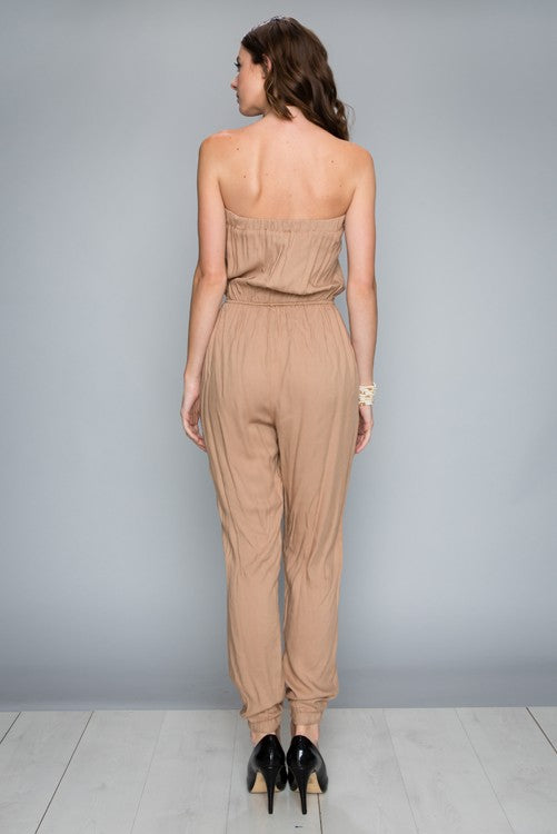 Strapless Safari Jumpsuit-217