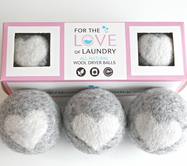 100% Wool Dryer Balls - Package of 3