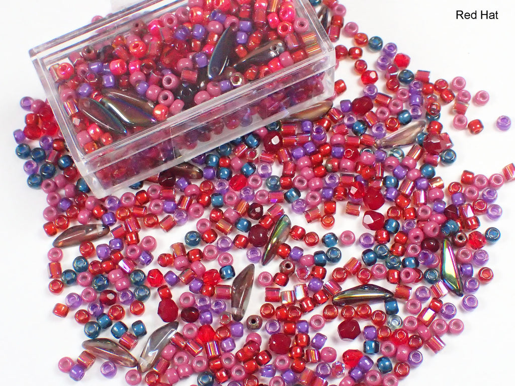 Small Bead Mix - Red Hat