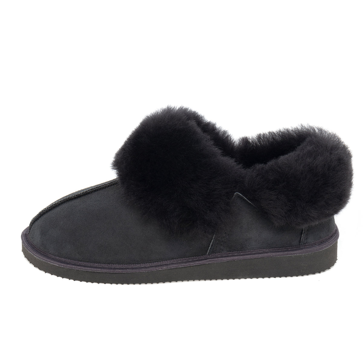 Gael Sheepskin Slippers - Graphite