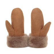 Sheepskin Suede Mittens - Honey