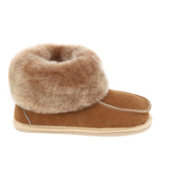 Kids Aesop Sheepskin Slippers - Chestnut