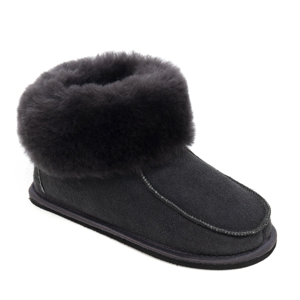 Kids Aesop Sheepskin Slippers - Graphite