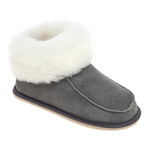 Kids Aesop Sheepskin Slippers - Grey