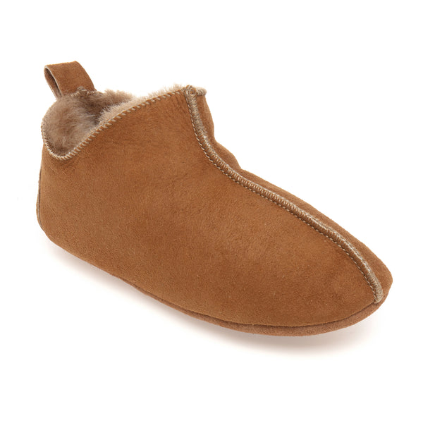 Berit Sheepskin Slippers/Yoga Shoe - Chestnut