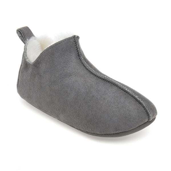 Kids Berit Sheepskin Slippers - Grey