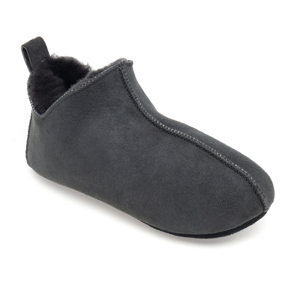 Kids Berit Sheepskin Slippers - Graphite