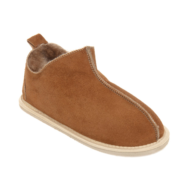 Kids Alpin Sheepskin Slippers - Chestnut