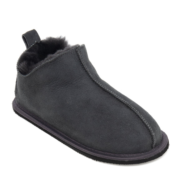 Kids Alpin Sheepskin Slippers - Graphite