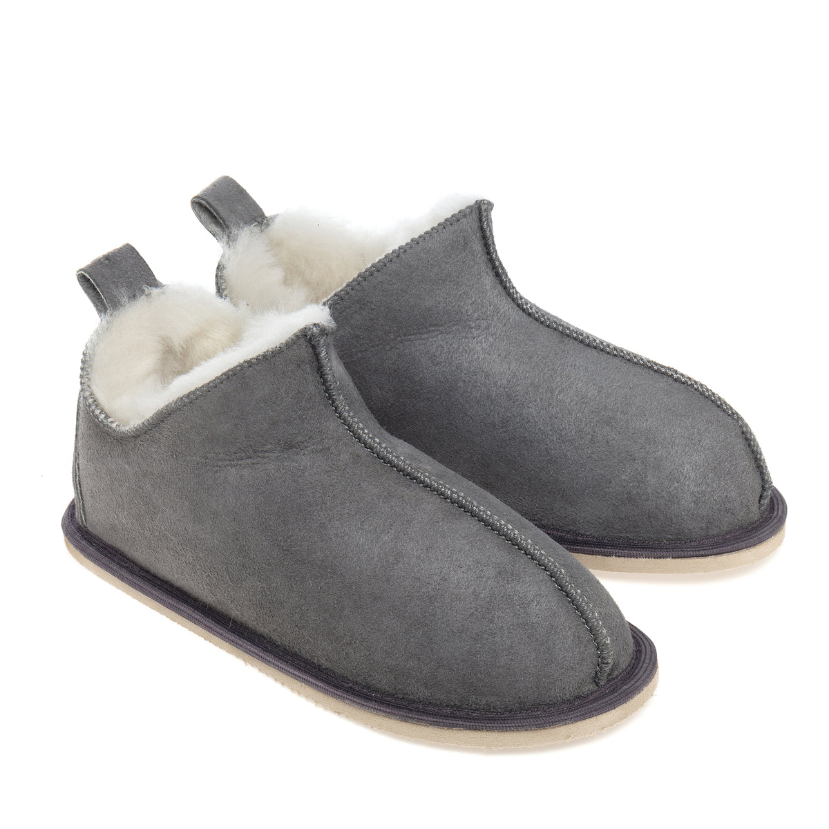 Kids Alpin Sheepskin Slippers - Grey
