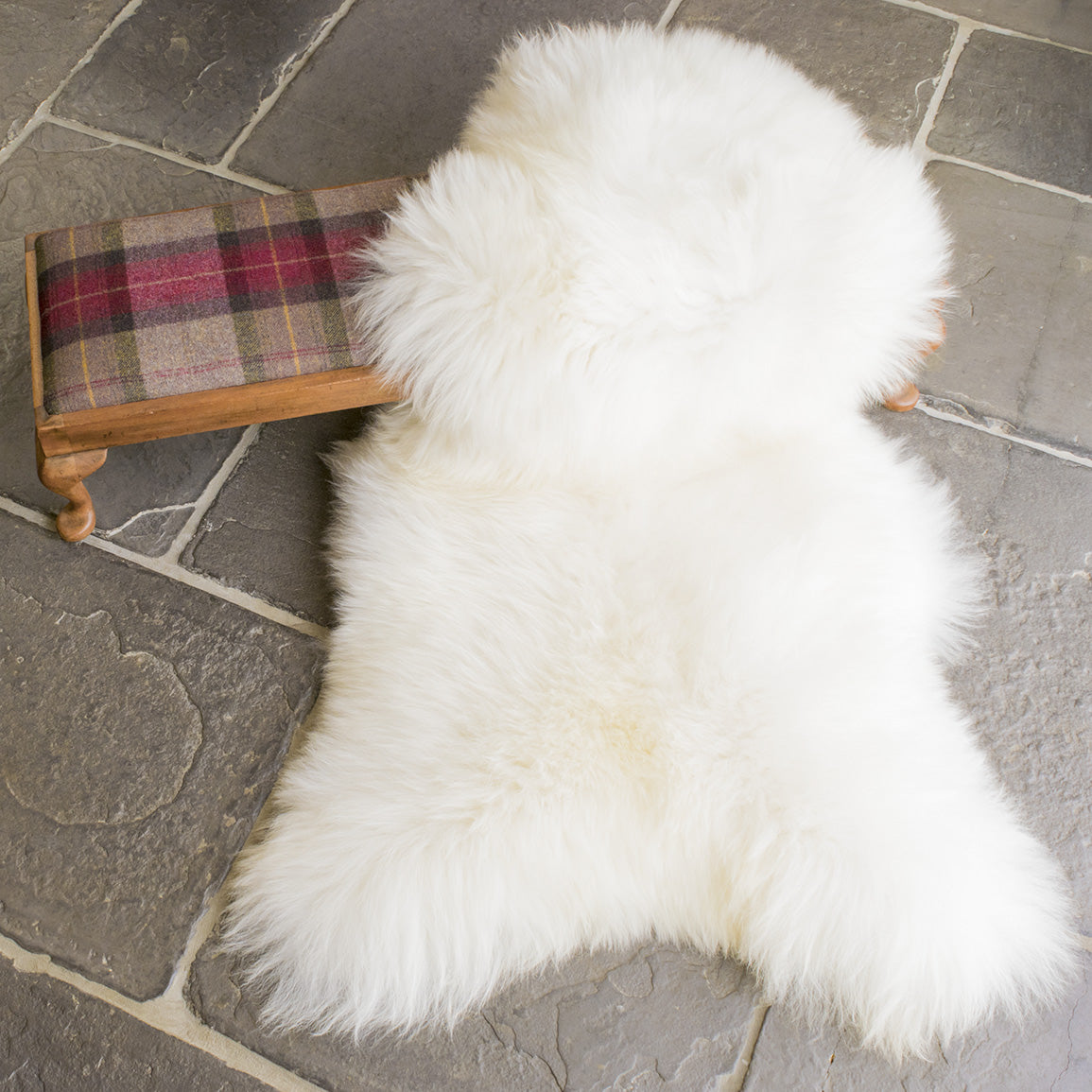 British Natural White Sheepskin