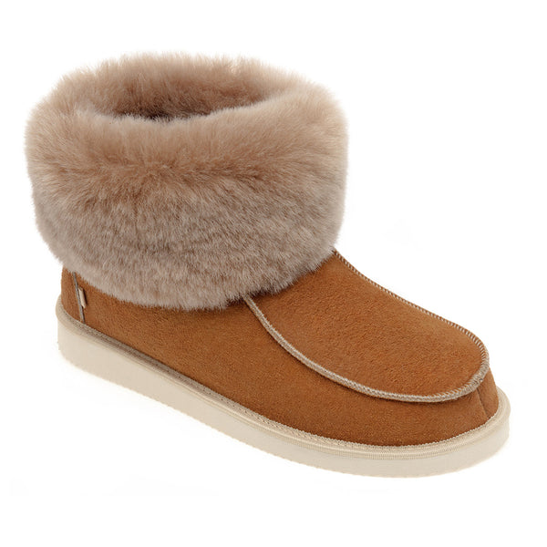 NEW Aesop Sheepskin Slippers - Chestnut