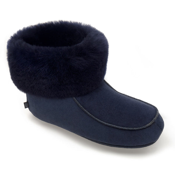 NEW Aster Sheepskin Slippers - Midnight Navy