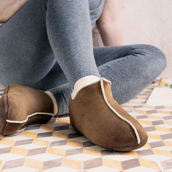 NEW Berit Sheepskin Slippers/Yoga Shoe - Cappuccino
